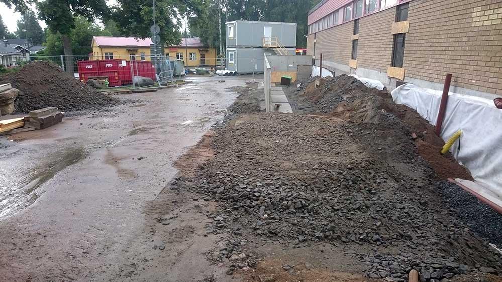 Dränering, Kumla Skola, Tyresö kommun