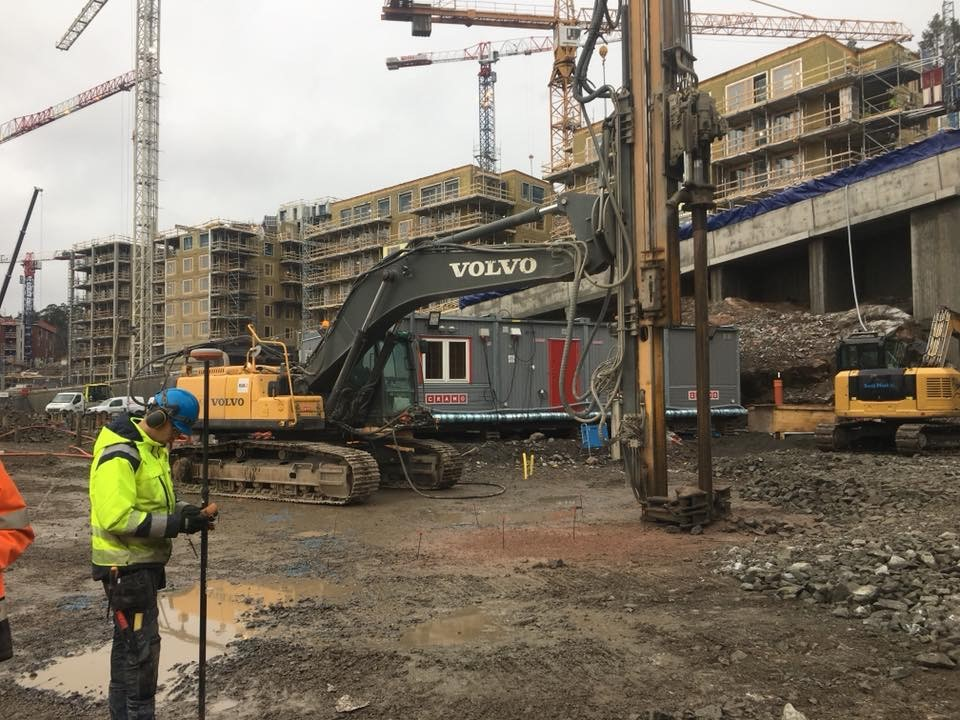 Grundläggning, Tollare Strand, HSB Bostad